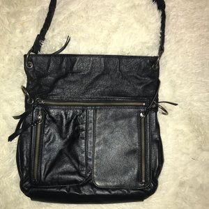 The Sak black leather satchel/shoulder bag